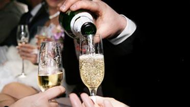 Limousine Service - champagne foto